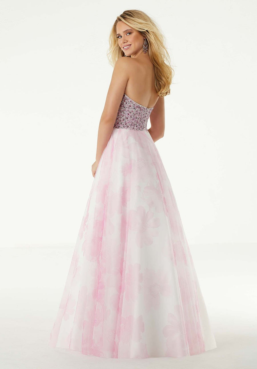 Morilee 45071 prom dress images.  Morilee 45071 is available in these colors: Pink, Teal.