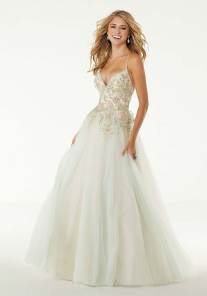 Morilee 45074 prom dress images.  Morilee 45074 is available in these colors: Mint, Lavender.