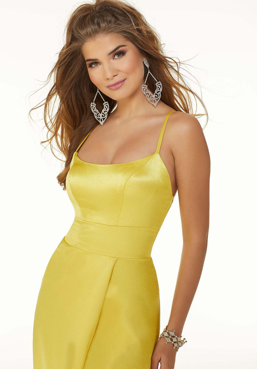 Morilee 45075 prom dress images.  Morilee 45075 is available in these colors: Yellow, Red, Teal.