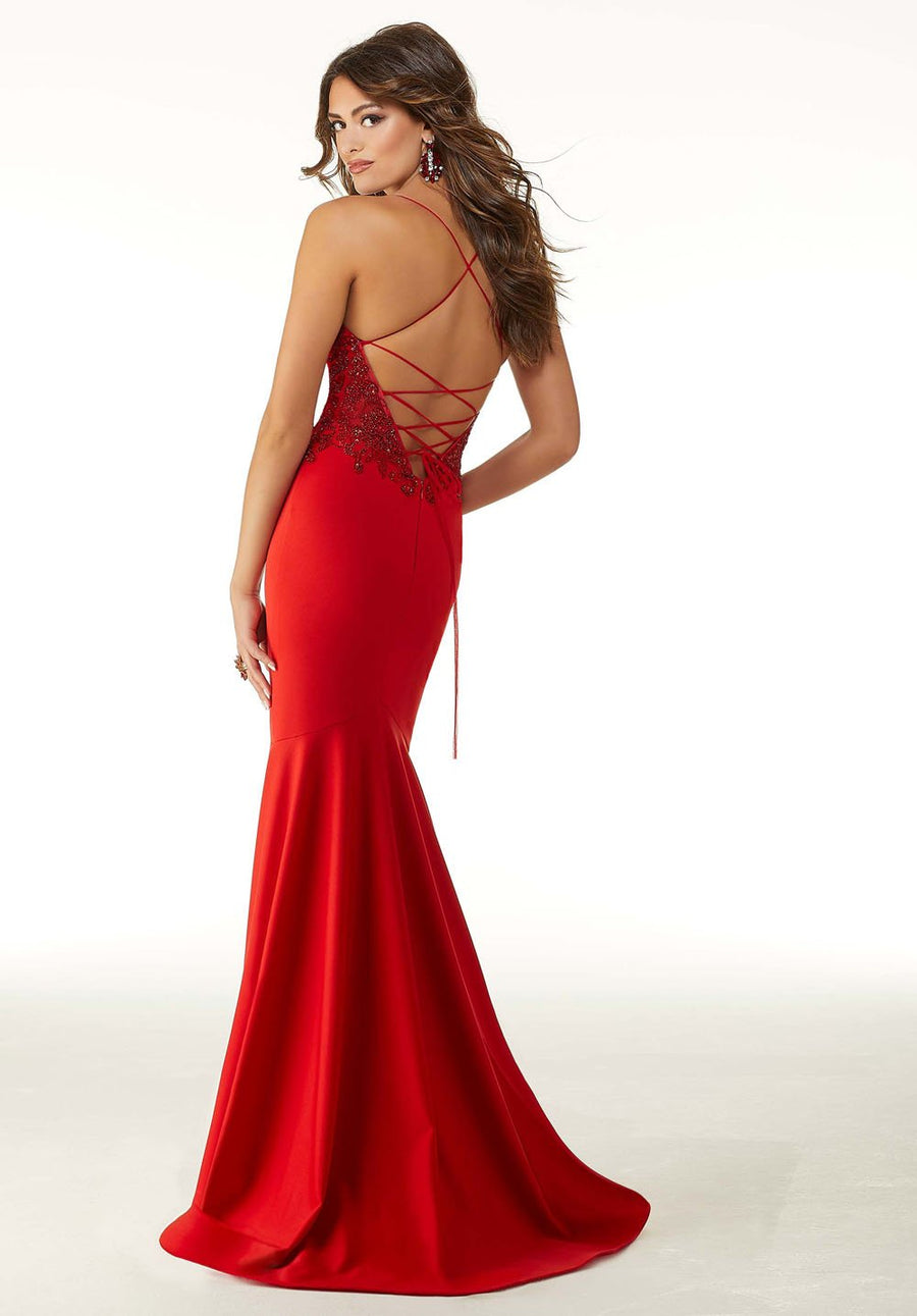 Morilee 45089 prom dress images.  Morilee 45089 is available in these colors: Red, Royal, Black.