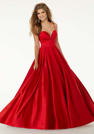 Morilee 45094 prom dress images.  Morilee 45094 is available in these colors: Sapphire, White, Red.