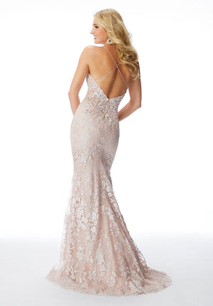 Morilee 46001 prom dress images.  Morilee 46001 is available in these colors: Blush, Ivory Nude.