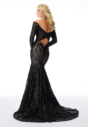 Morilee 46005 prom dress images.  Morilee 46005 is available in these colors: Black Blush, Rose Gold.