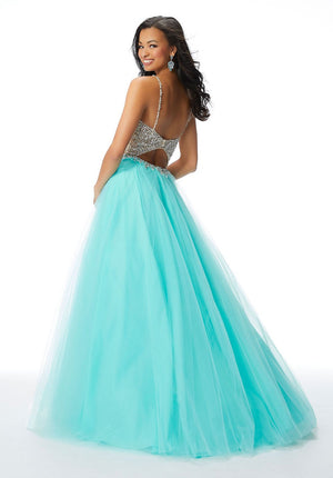 Morilee 46013 prom dress images.  Morilee 46013 is available in these colors: Orchid, Turquoise.