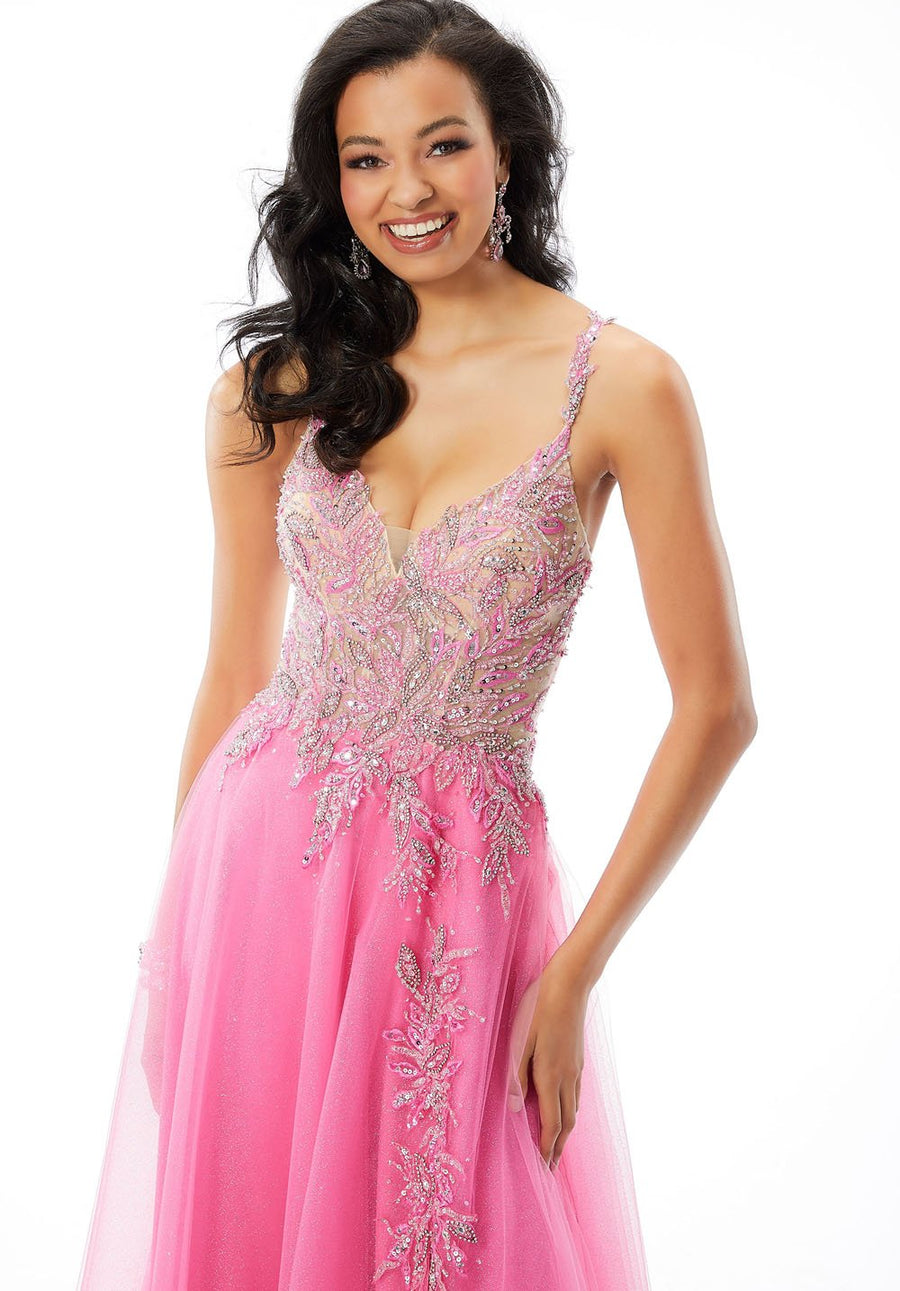 Morilee 46015 prom dress images.  Morilee 46015 is available in these colors: Aqua, Lipstick.