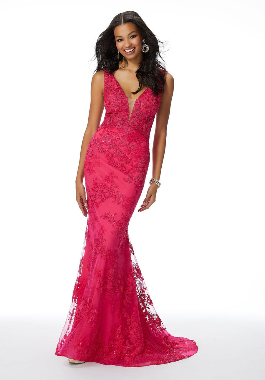 Morilee 46016 prom dress images.  Morilee 46016 is available in these colors: Sapphire, Fuchsia.