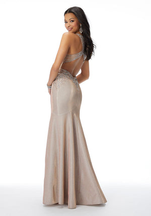 Morilee 46020 prom dress images.  Morilee 46020 is available in these colors: Desert Rose, Blue Orchid.