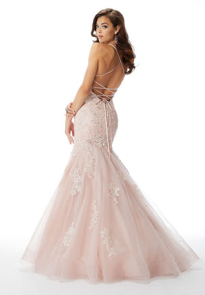 Morilee 46021 prom dress images.  Morilee 46021 is available in these colors: Blush, Light Purple.