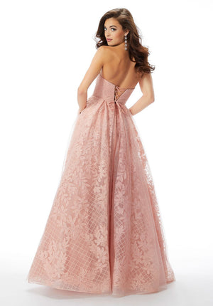 Morilee 46022 prom dress images.  Morilee 46022 is available in these colors: Light Blue, Light Pink.