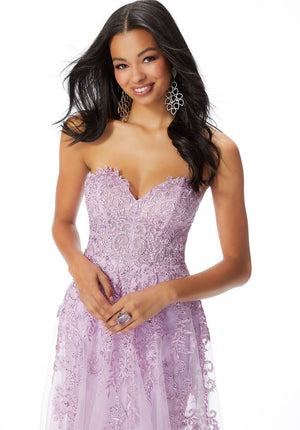 Morilee 46027 prom dress images.  Morilee 46027 is available in these colors: Royal, Lilac.