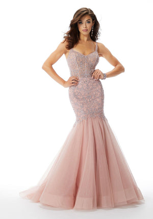 Morilee 46028 prom dress images.  Morilee 46028 is available in these colors: Dusty Rose, Bright Royal.