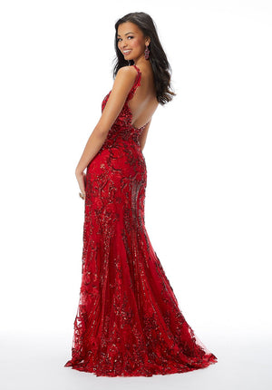 Morilee 46029 prom dress images.  Morilee 46029 is available in these colors: Scarlet, Royal.
