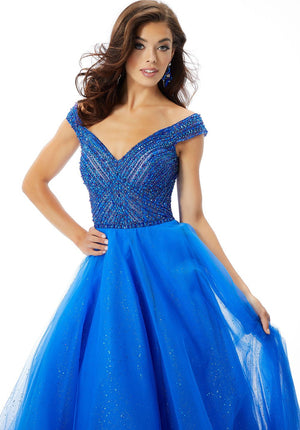 Morilee 46032 prom dress images.  Morilee 46032 is available in these colors: Scarlet, Lemonade, Regal Royal.
