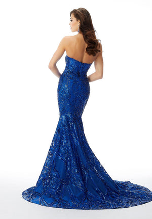 Morilee 46034 prom dress images.  Morilee 46034 is available in these colors: Royal, Red.