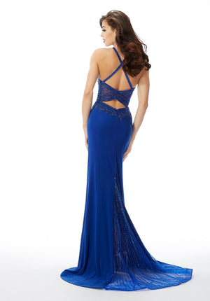 Morilee 46043 prom dress images.  Morilee 46043 is available in these colors: Royal, Wine, Kelly Green.