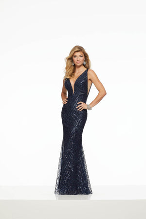 Morilee 43007 prom dress images.  Morilee 43007 is available in these colors: Gold, Navy.