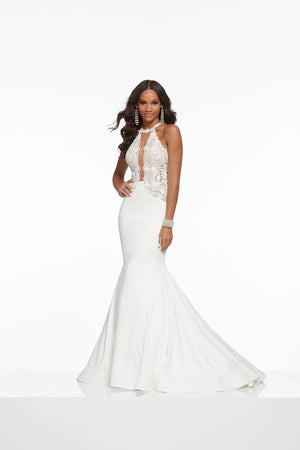 Morilee 43014 prom dress images.  Morilee 43014 is available in these colors: Light Blue, White.