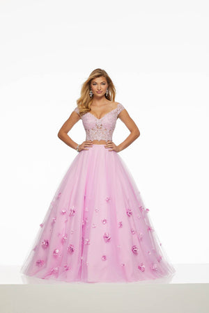 Morilee 43016 prom dress images.  Morilee 43016 is available in these colors: Bahama Blue, Blush, Light Purple.