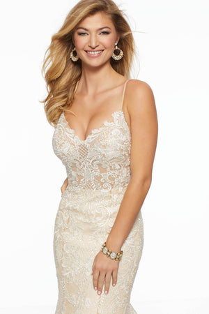 Morilee 43017 prom dress images.  Morilee 43017 is available in these colors: Ivory Gold, Rose.