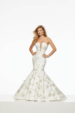Morilee 43025 prom dress images.  Morilee 43025 is available in these colors: Ivory.