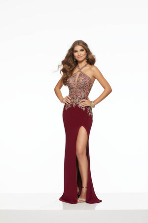 Morilee 43030 prom dress images.  Morilee 43030 is available in these colors: Royal Silver, Wine Gold.