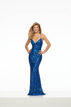 Morilee 43032 prom dress images.  Morilee 43032 is available in these colors: Rose Gold, Royal, Silver, Wine.