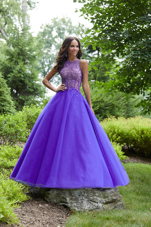 Morilee 43033 prom dress images.  Morilee 43033 is available in these colors: Deep Purple, Sangria.