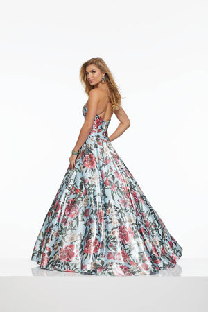Morilee 43035 prom dress images.  Morilee 43035 is available in these colors: Tropical Floral.