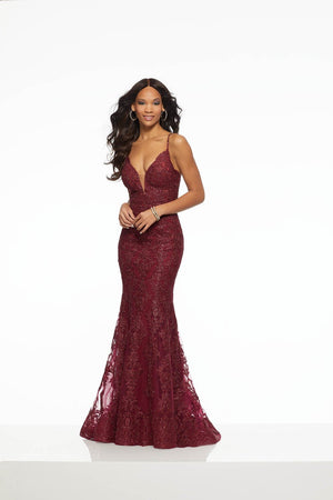 Morilee 43036 prom dress images.  Morilee 43036 is available in these colors: Gunmetal, Wine.