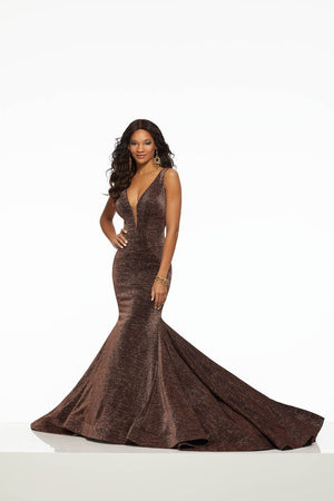 Morilee 43038 prom dress images.  Morilee 43038 is available in these colors: Black Bronze, Black Gold.