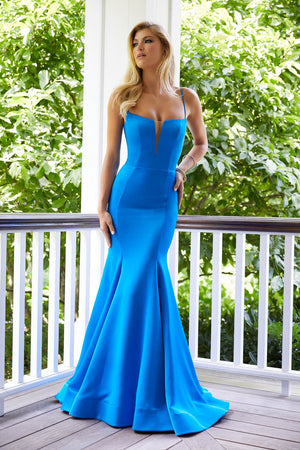 Morilee 43040 prom dress images.  Morilee 43040 is available in these colors: Black, Bright Blue, Bright Green.