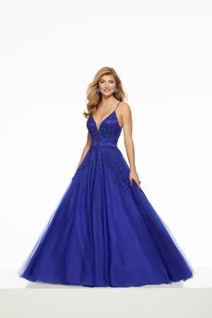 Morilee 43044 prom dress images.  Morilee 43044 is available in these colors: Bright Royal, Emerald.