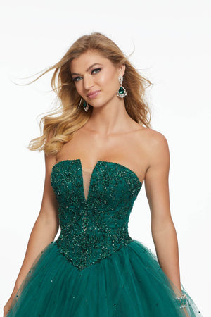 Morilee 43046 prom dress images.  Morilee 43046 is available in these colors: Emerald, Navy.