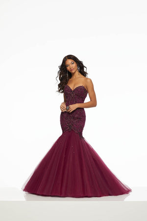 Morilee 43047 prom dress images.  Morilee 43047 is available in these colors: Emerald, Wine.
