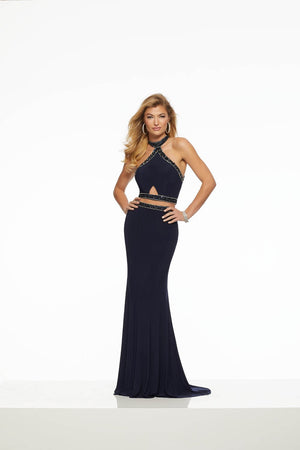 Morilee 43048 prom dress images.  Morilee 43048 is available in these colors: Green, Navy.
