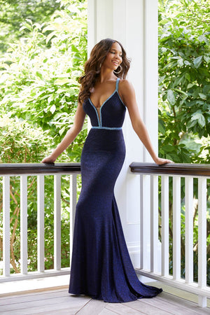 Morilee 43050 prom dress images.  Morilee 43050 is available in these colors: Navy, Wine.