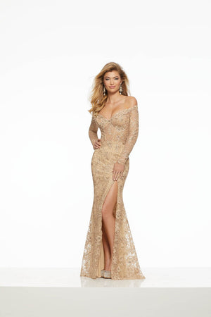 Morilee 43052 prom dress images.  Morilee 43052 is available in these colors: Black, Gold, Silver.