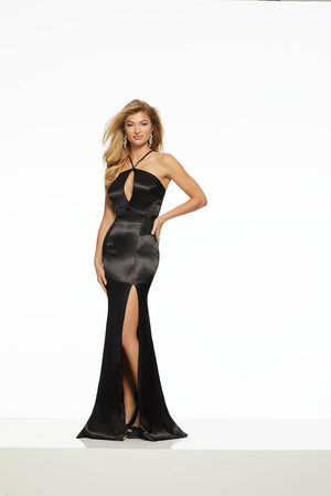 Morilee 43055 prom dress images.  Morilee 43055 is available in these colors: Black, Red, Royal, Silver.