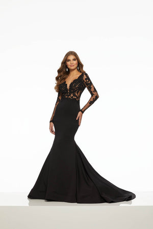 Morilee 43057 prom dress images.  Morilee 43057 is available in these colors: Black.