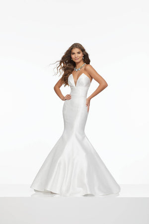 Morilee 43062 prom dress images.  Morilee 43062 is available in these colors: Royal, White.