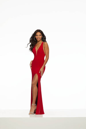Morilee 43063 prom dress images.  Morilee 43063 is available in these colors: Black, Red.