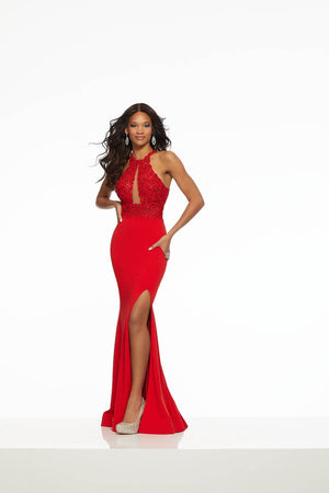 Morilee 43064 prom dress images.  Morilee 43064 is available in these colors: Red, Royal.