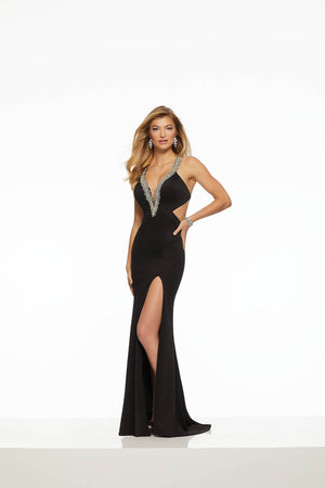 Morilee 43066 prom dress images.  Morilee 43066 is available in these colors: Black, Ivory.