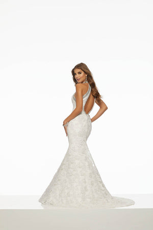 Morilee 43068 prom dress images.  Morilee 43068 is available in these colors: White.