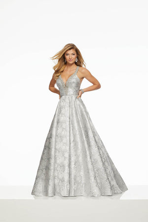 Morilee 43070 prom dress images.  Morilee 43070 is available in these colors: Gold, Silver.
