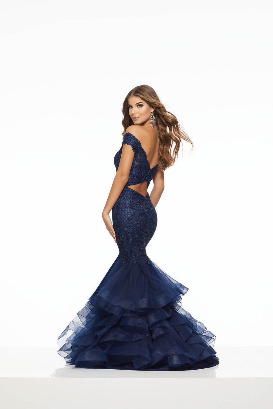 Morilee 43073 prom dress images.  Morilee 43073 is available in these colors: Navy, Charcoal Gunmetal.