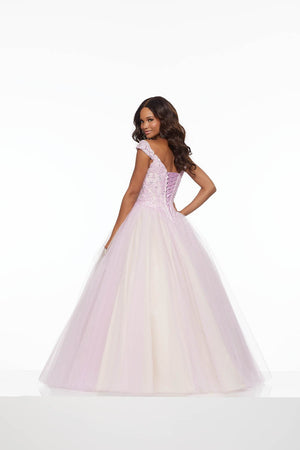 Morilee 43076 prom dress images.  Morilee 43076 is available in these colors: Light Purple Champagne, Nude Ivory.
