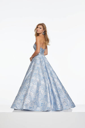Morilee 43078 prom dress images.  Morilee 43078 is available in these colors: Aqua, Blue, Pink.
