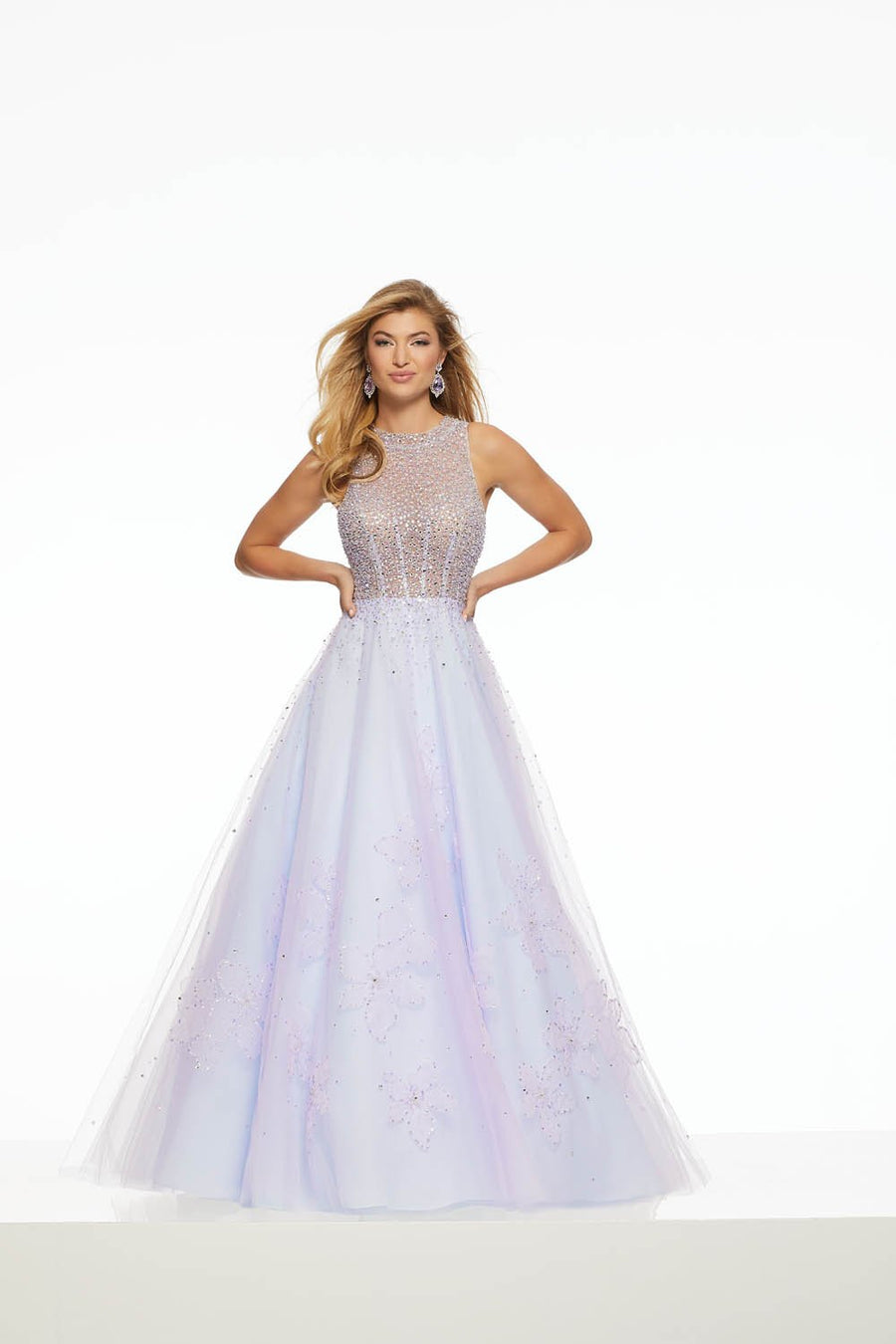 Morilee 43079 prom dress images.  Morilee 43079 is available in these colors: Blush, Light Blue Light Purple.