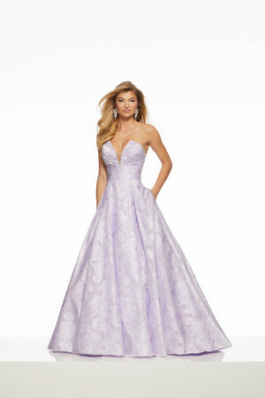 Morilee 43080 prom dress images.  Morilee 43080 is available in these colors: Blush, Lilac.